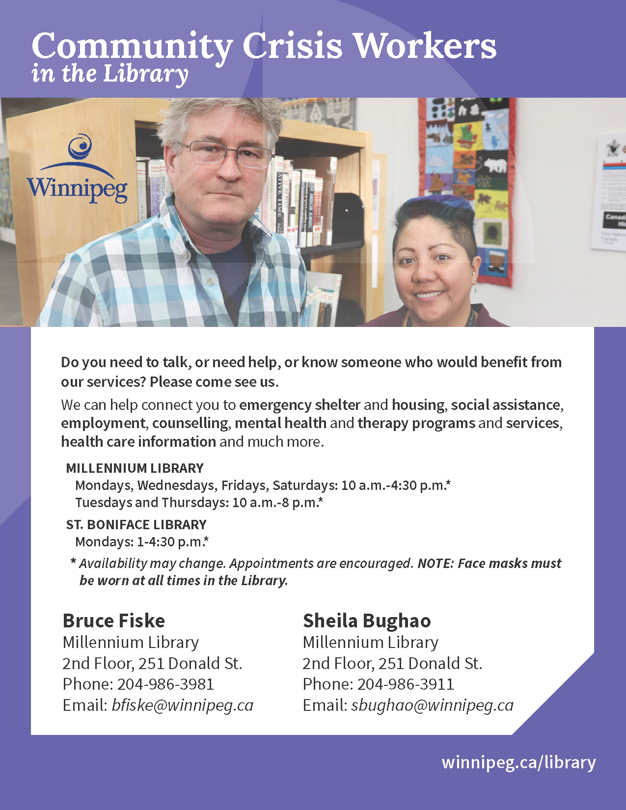 Community Crisis Worker - Winnipeg Public Library - City of
