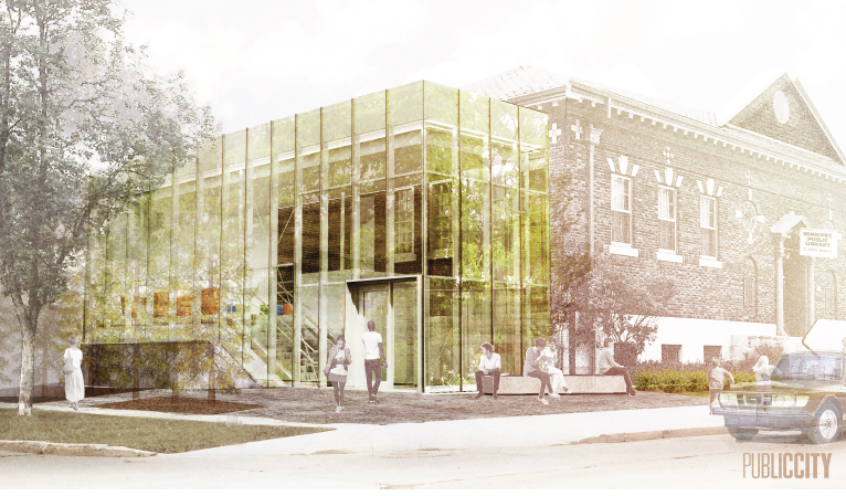 Rendering of renovated St. John's Library