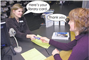 Getting a Library Card illustration